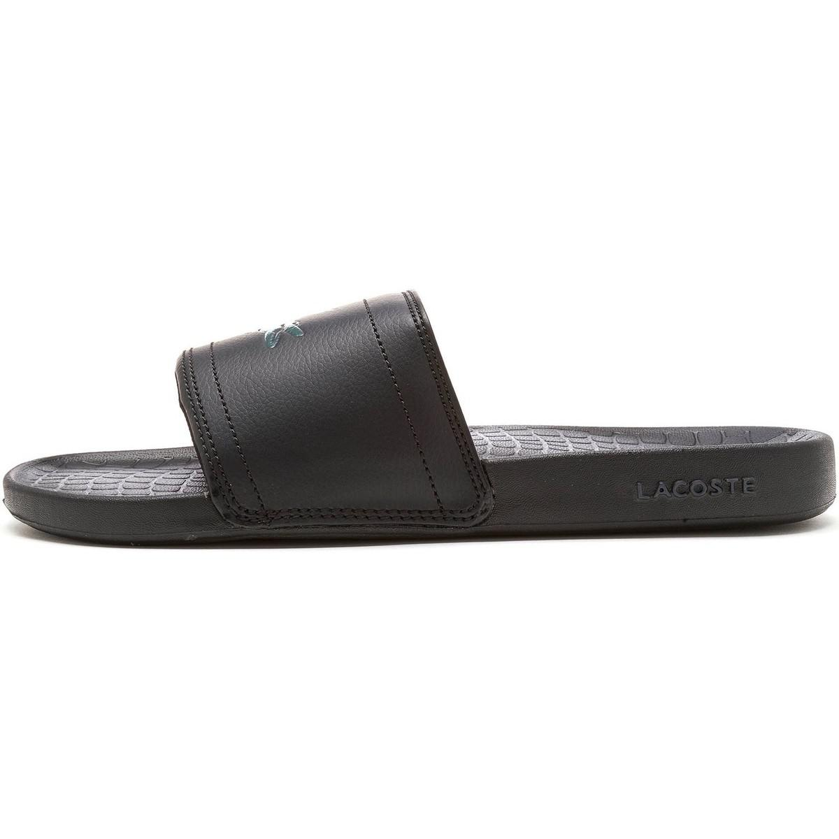 053177cab30e Lacoste Fraisier Brd1 Us Spm Slide Pool Beach Sandals In Black ...