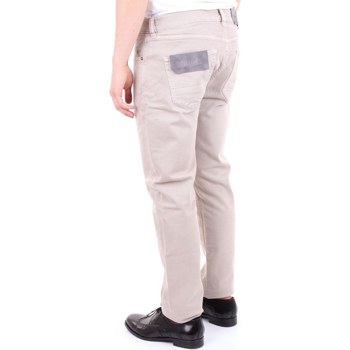 UNIFORM Denim Straight Jeans Um0070730xc in het Naturel voor heren