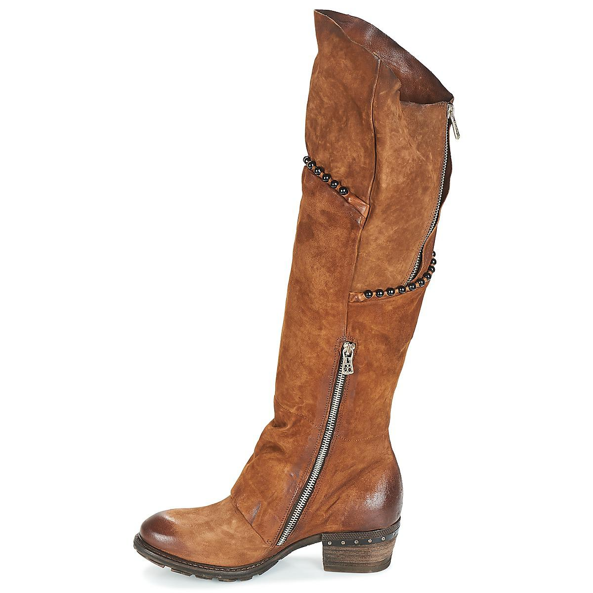 A.s.98 Leather Corn 18 High Boots in Brown