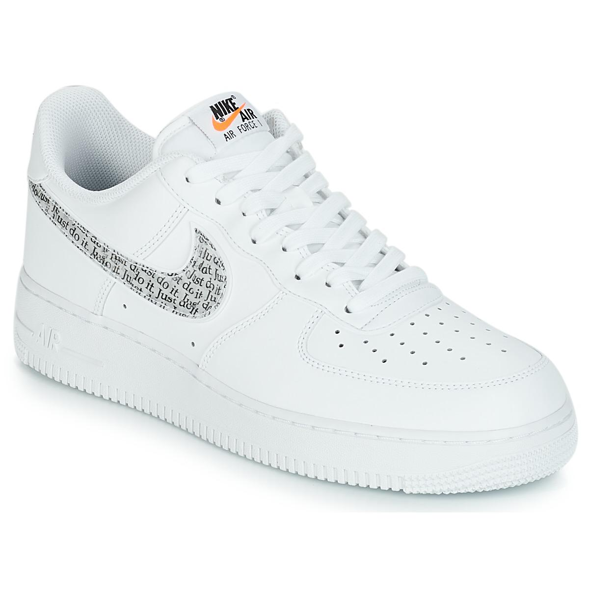 a65bb66104f8 Nike Air Force 1  07 Lv8 Just Do It Men s Shoes (trainers) In White ...