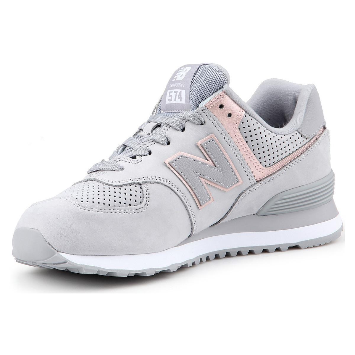 check out f17c9 e9d13 New Balance Leather Wl574nbn Women's Shoes (trainers) In ...
