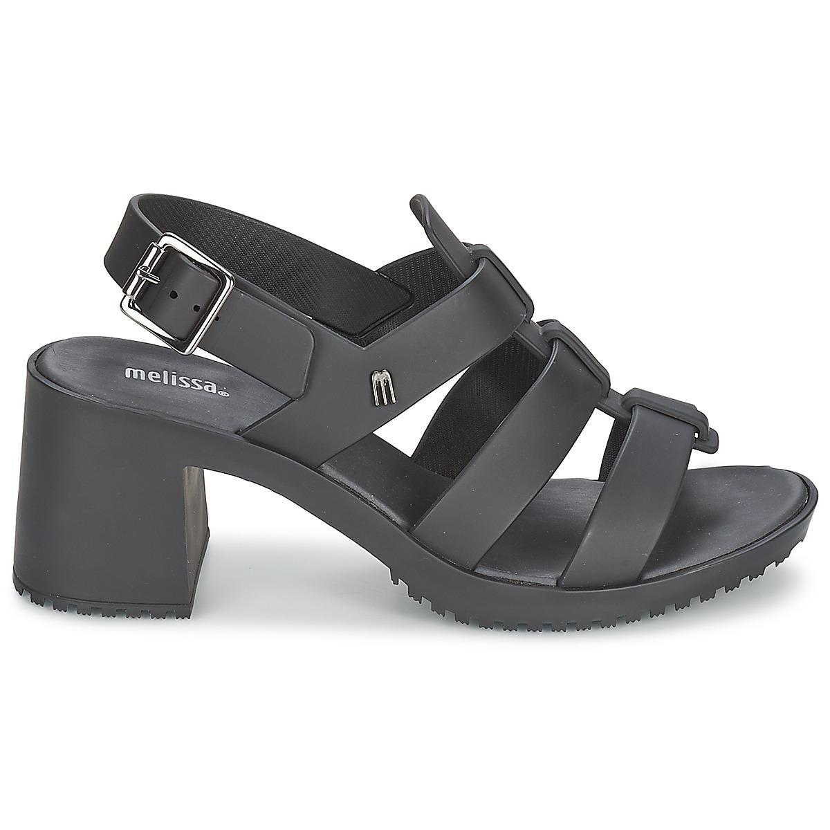 9e17c2b14944 Melissa - Flox High Women s Sandals In Black - Lyst. View fullscreen