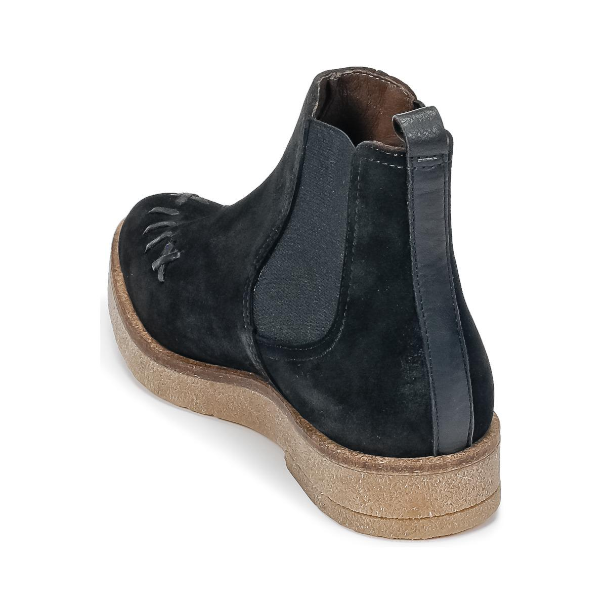 IKKS Saddled Creepers Women's Mid Boots In Black