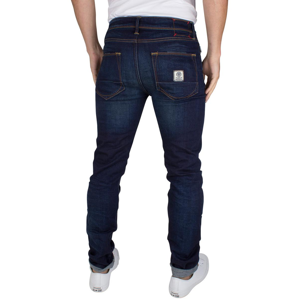Franklin & Marshall Denim Men's Skinny Fit Seattle Jeans, Blue Men's Skinny Jeans In Blue for Men
