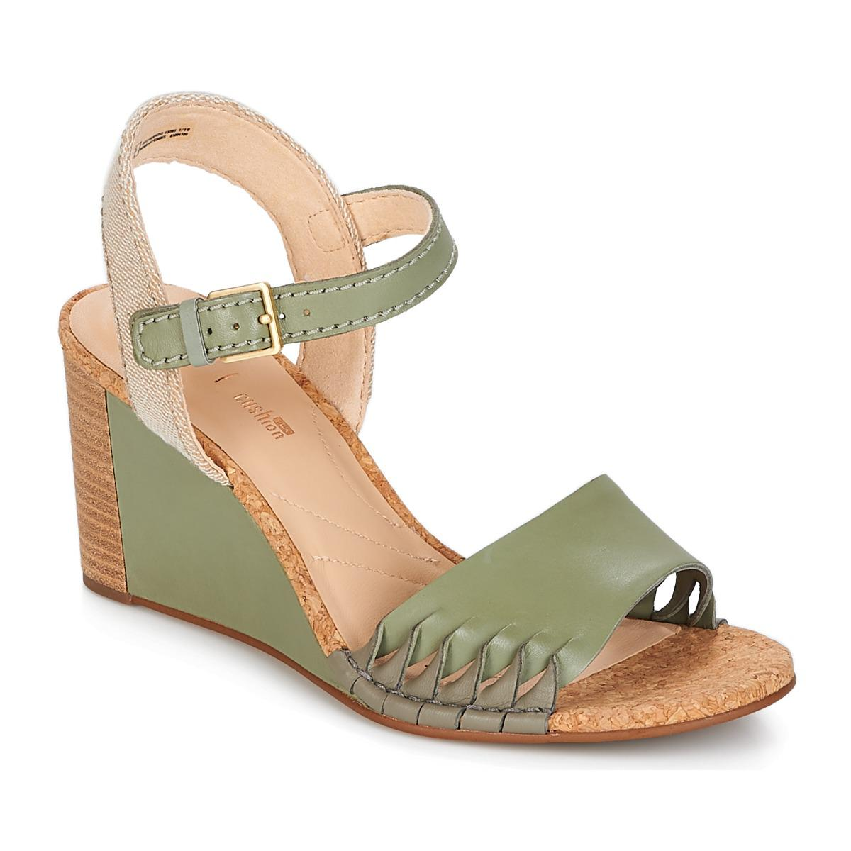 05cd072f9 Clarks Spiced Poppy Sandals in Green - Lyst