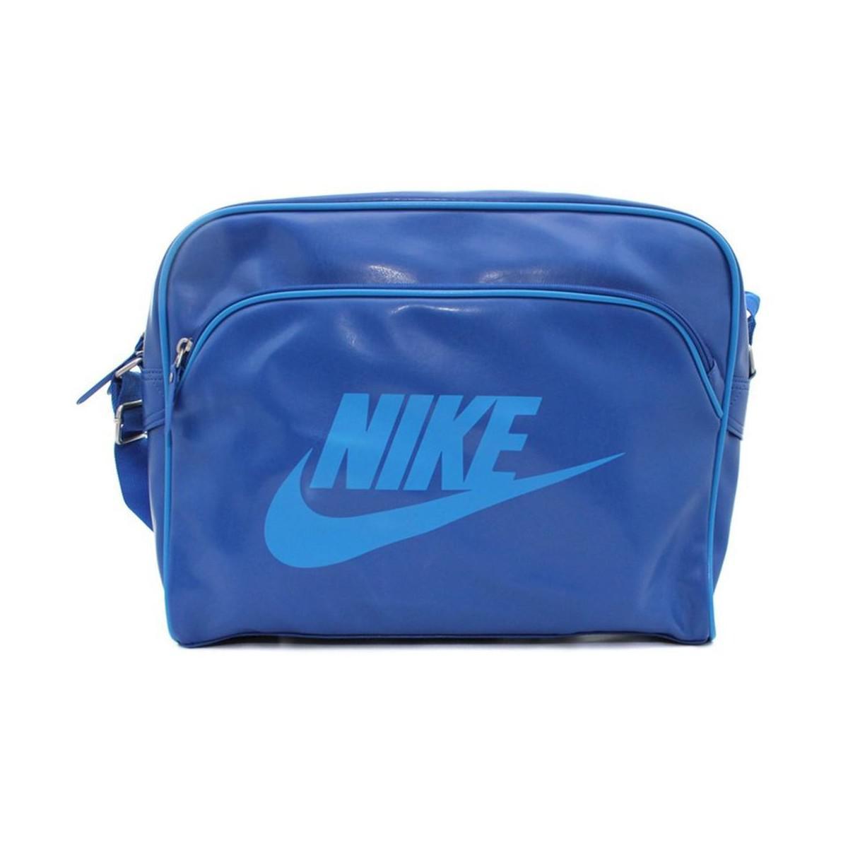 dee929153faa Nike Heritage Si Track Men s Messenger Bag In Blue in Blue for Men ...
