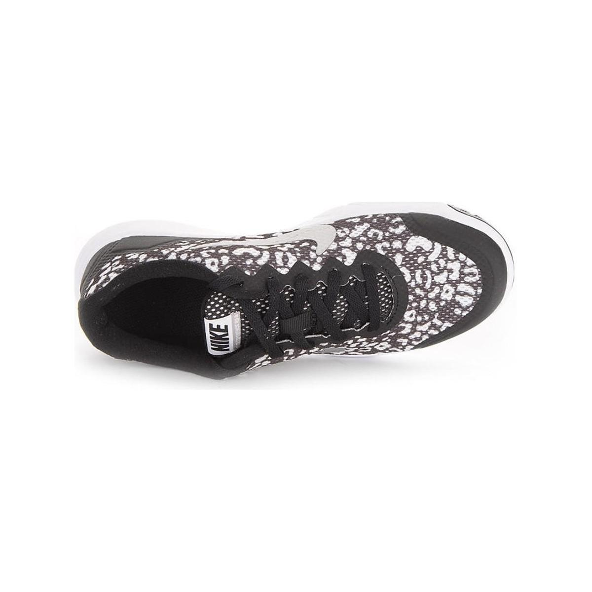 Nike Flex Experience 4 Print Gs Women's Shoes (trainers) In Black