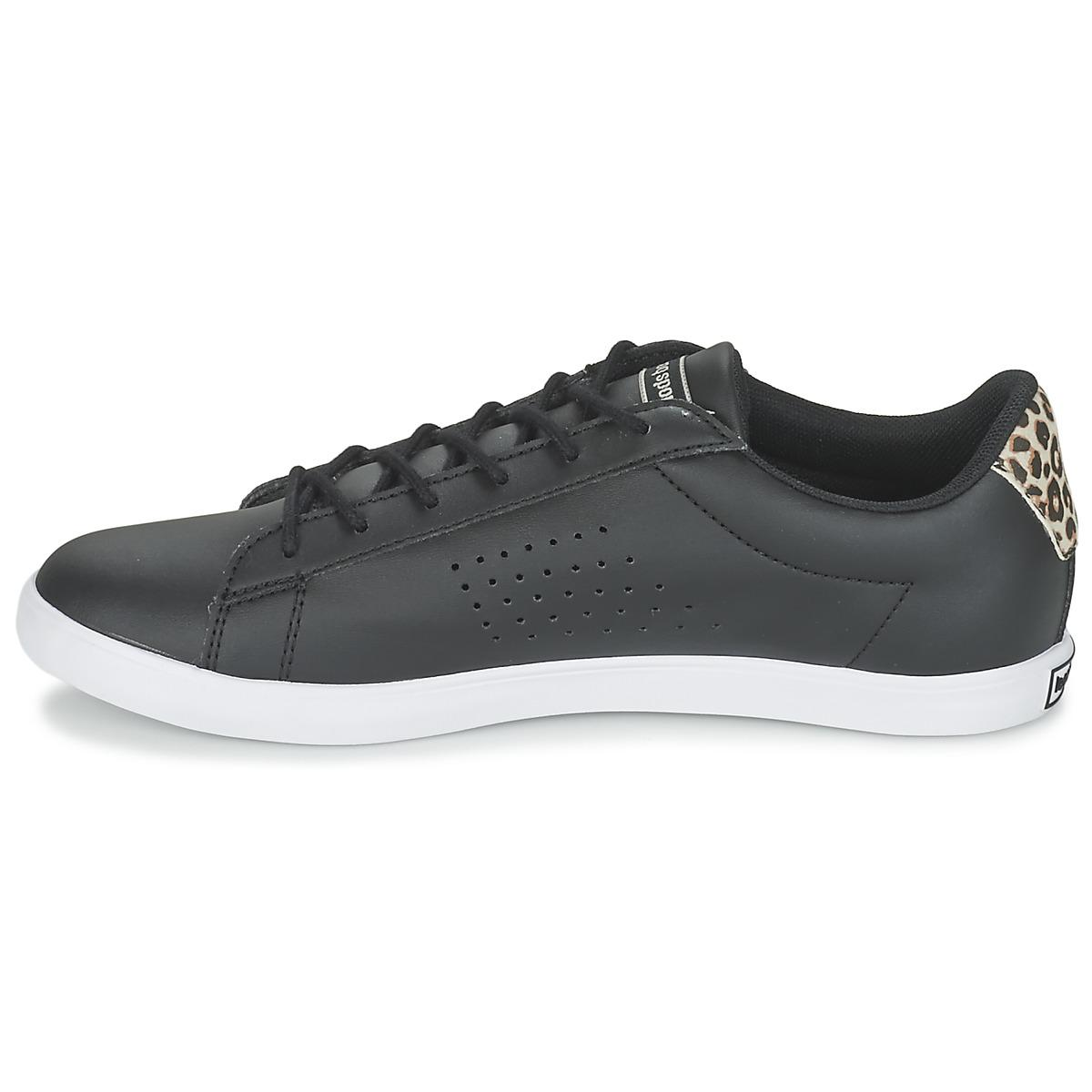 Le Coq Sportif Synthetic Dynacomf W Feminine Mesh Women's Shoes (trainers) In Black