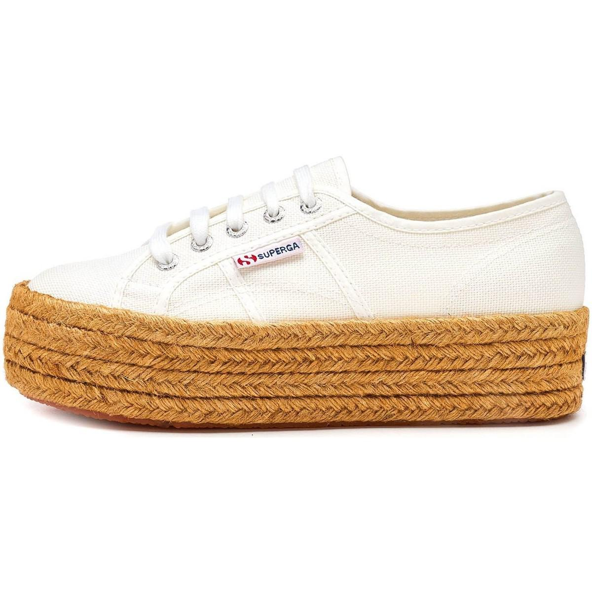 09b72388d80 Superga - 2790 Cotropew Platform Plimsoll Shoes In White 901 Women s  Espadrilles   Casual Shoes In. View fullscreen