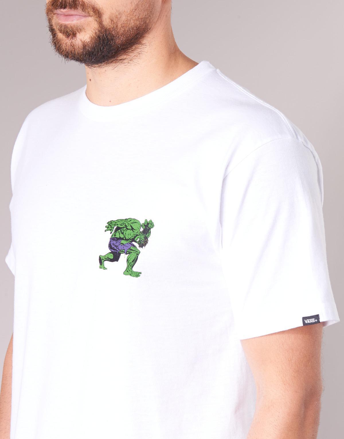 Vans X Marvel Hulk Ss T Shirt in White for Men - Lyst