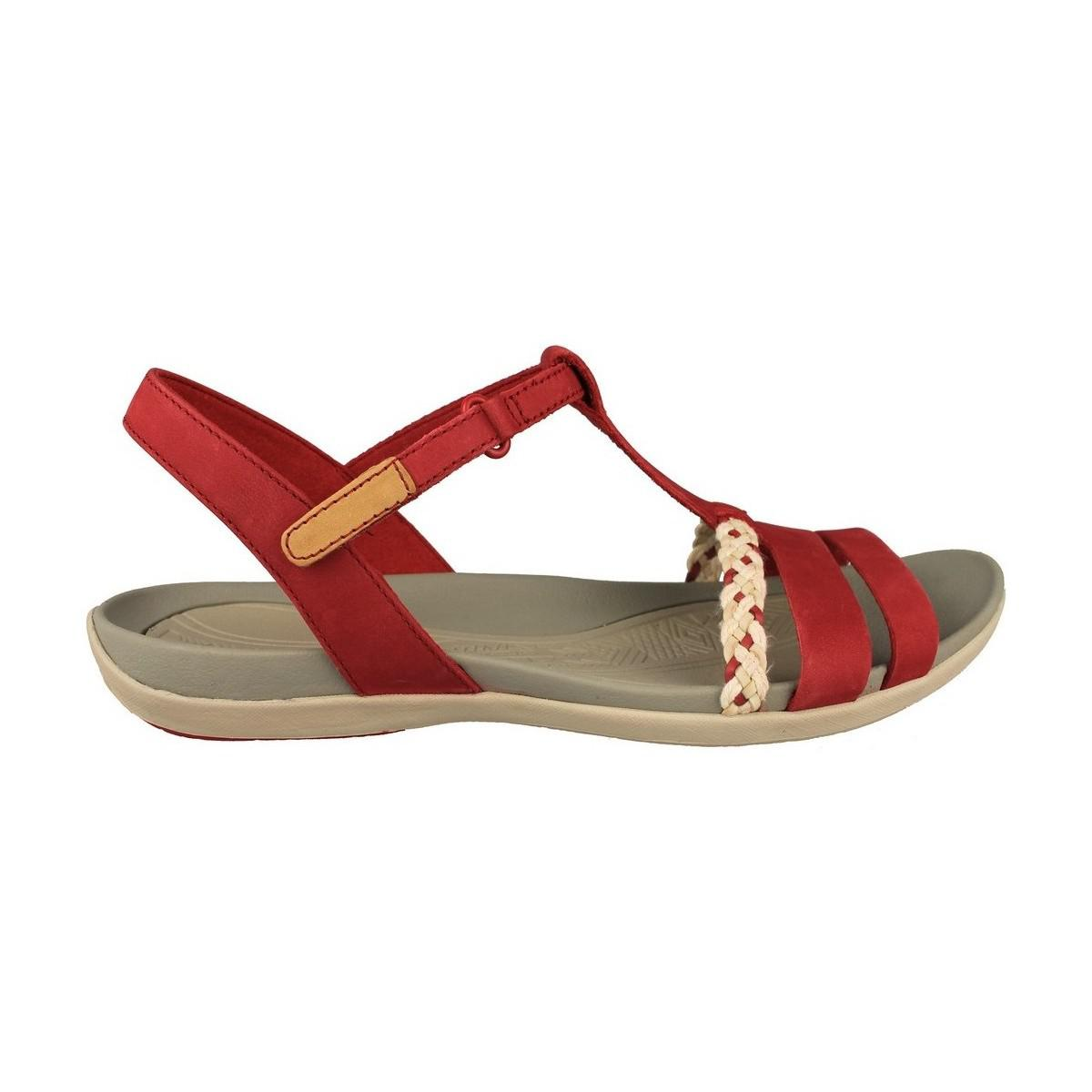 953121d3e5b8 Clarks Tealite Grace Women s Sandals In Red in Red - Lyst