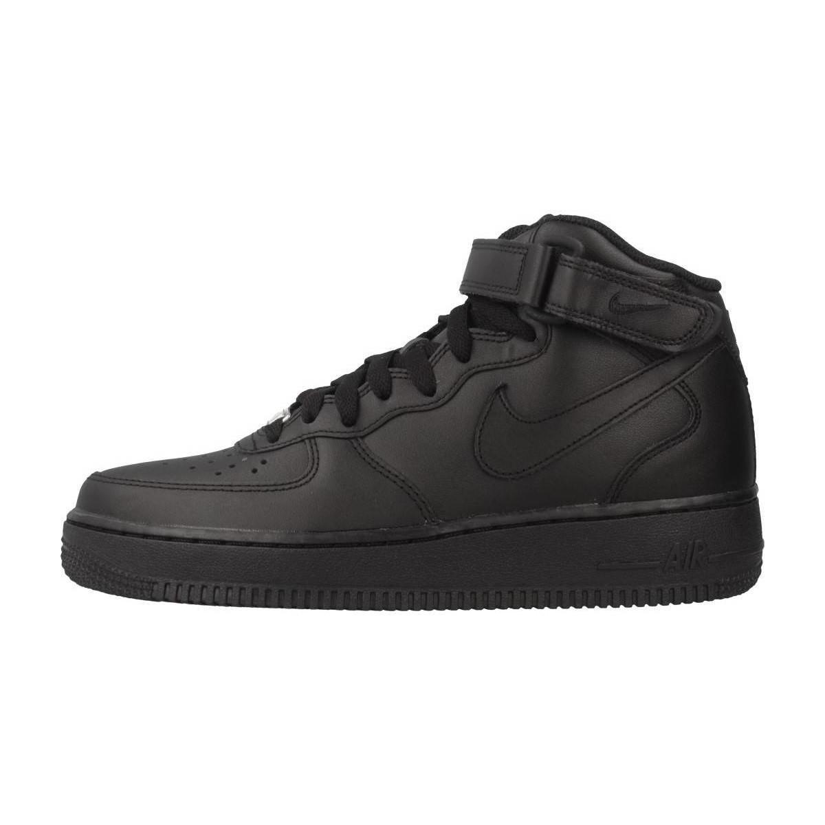 Shoeshigh Air Force 1 Top Nike TrainersIn Black Women's SUzMGVpq