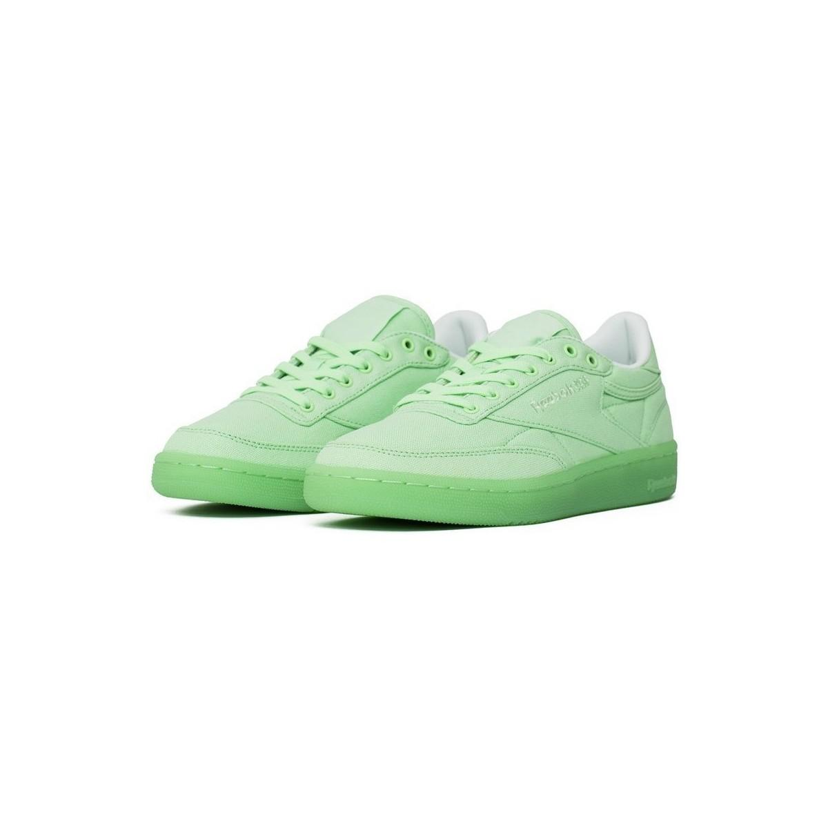 7487963f789880 Reebok Club C 85 Canvas Mint Green Women s Shoes (trainers) In Green ...