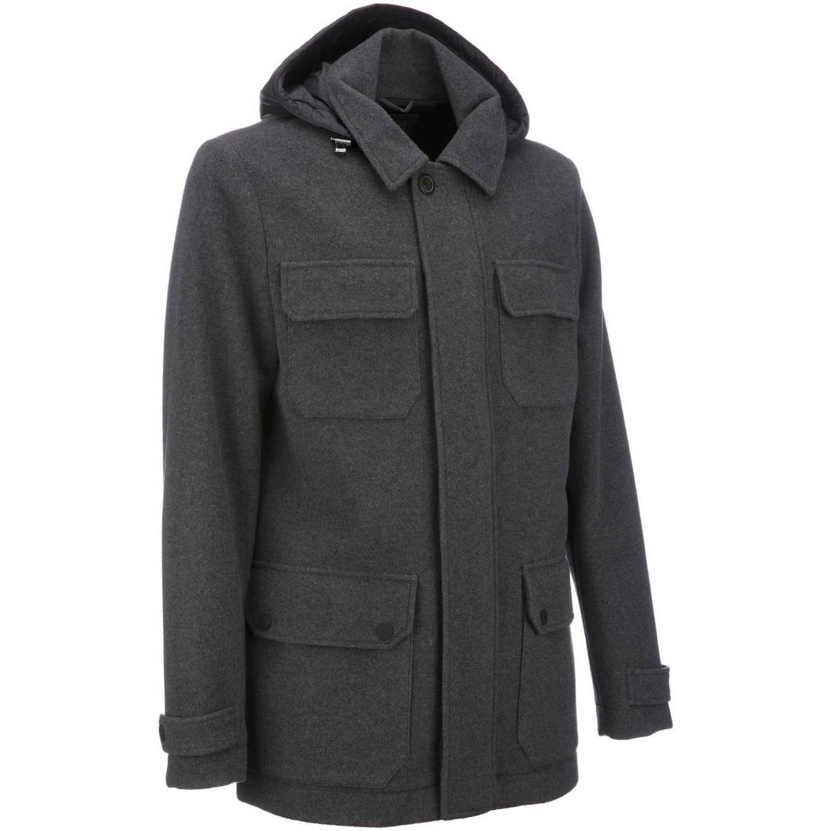 Geox M6415e T2291 Jacket Man Grey Men's Jacket In Grey in Grey for Men