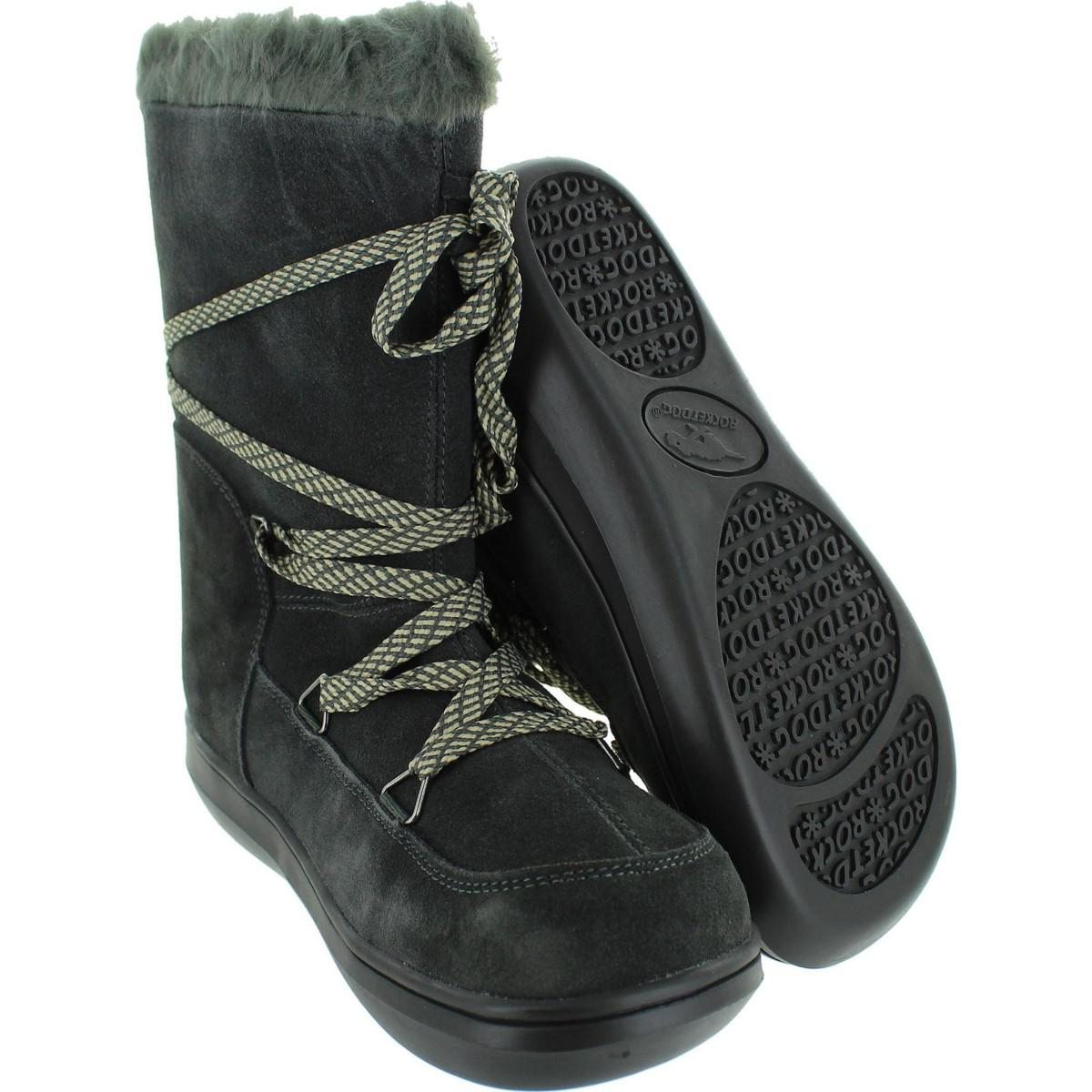 Rocket Dog Snowcrush Women's Mid Boots In Grey in Grey