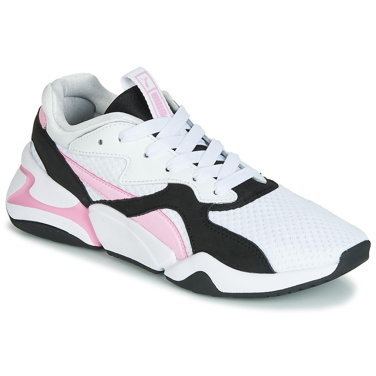 PUMA Wn Nova 90 s Bloc.wh-lilac Women s Shoes (trainers) In White in ... 86cfa1f7b