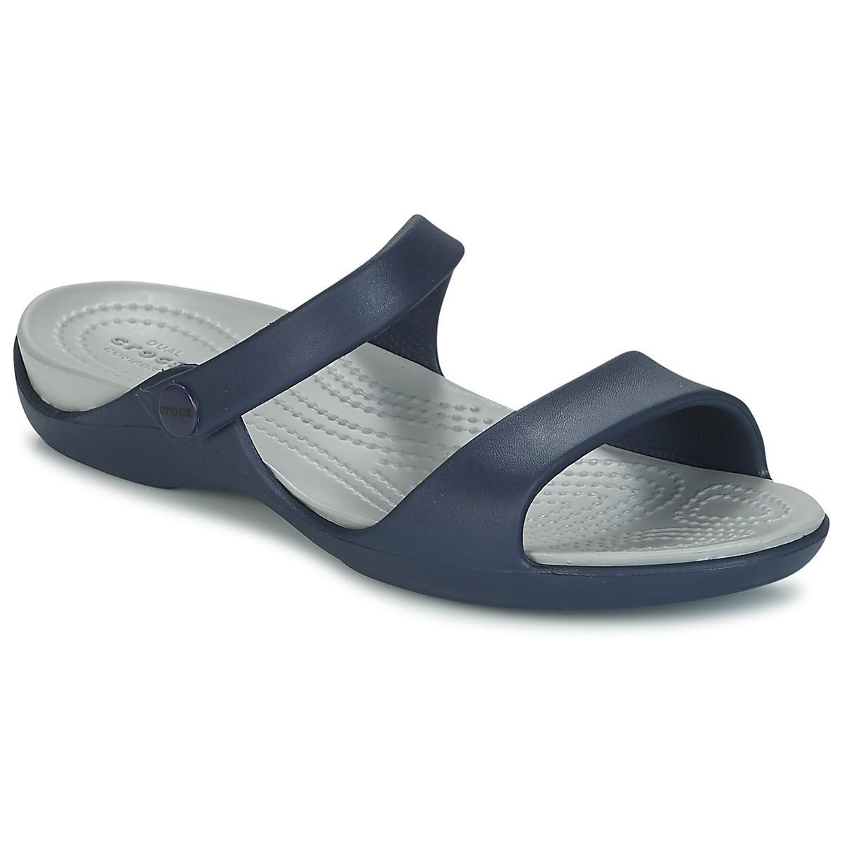 f88499f13afcdd Crocs™ Cleo V Sandals in Blue - Lyst