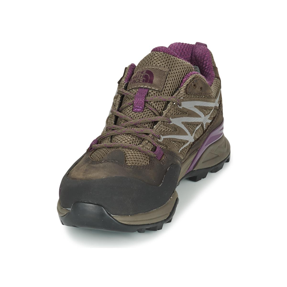 The North Face Leather Hedgehog Hike Goretex Women's Walking Boots In Brown