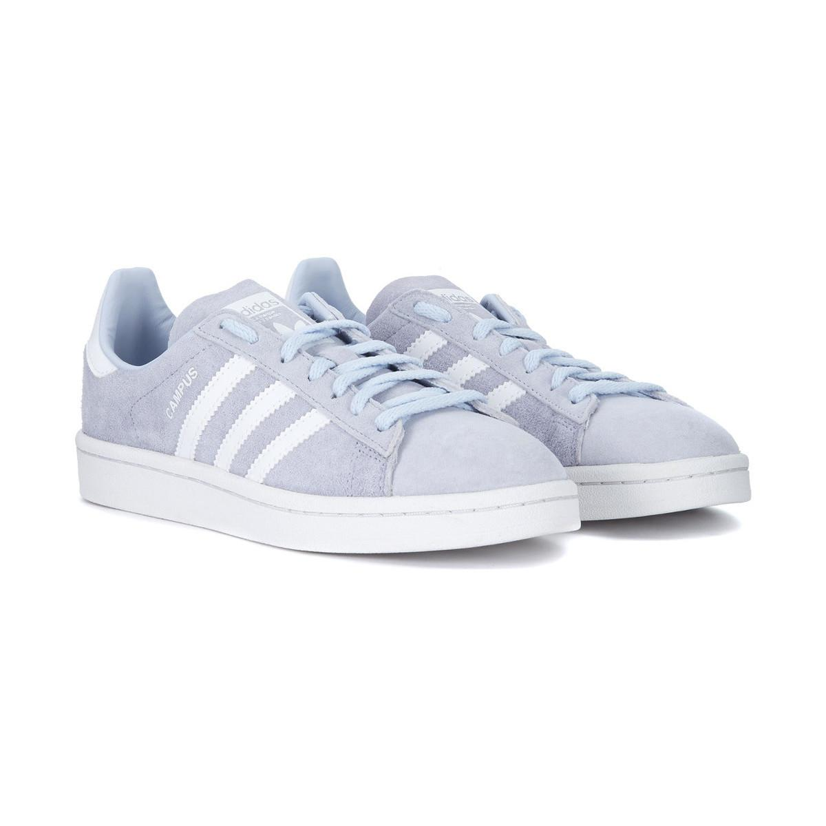 adidas Campus Light Blue Nubuck Sneaker Women's Shoes (trainers) In Other