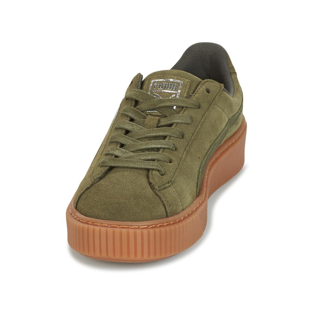 Suede Chaussures Vert Gum Core Coloris En Femmes Puma Platform ZOuTPkwXi