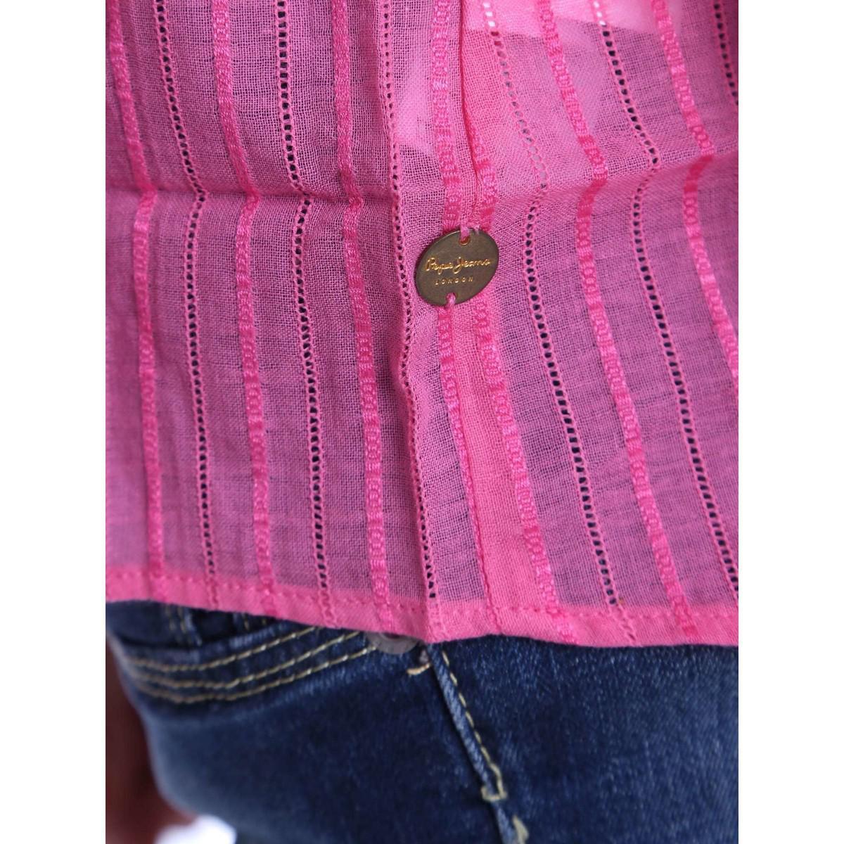 Pepe Jeans Denim Pl302051 Blusa Women Pink Women's Blouse In Pink
