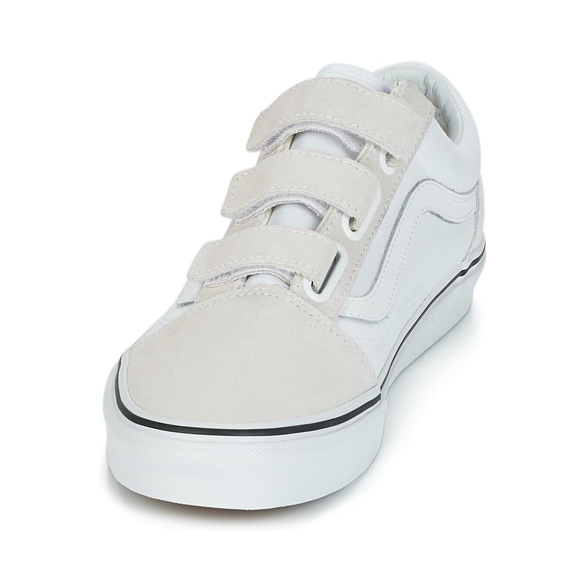 Vans Old Skool V Shoes (trainers) in Beige (Natural)