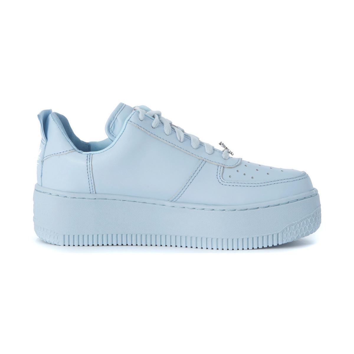 Windsor Smith Racerr Baby Light-bue Snaker With Platform Women's Trainers In Other in Blue