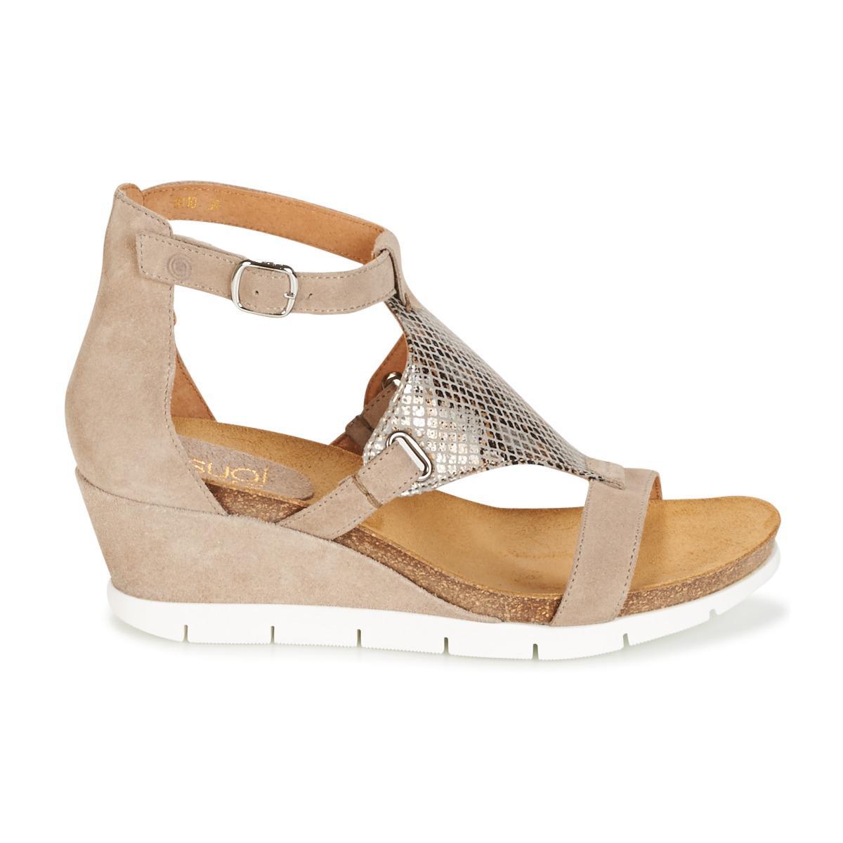 Casual Attitude | Natural Burmilla Women's Sandals In Beige | Lyst. View  Fullscreen