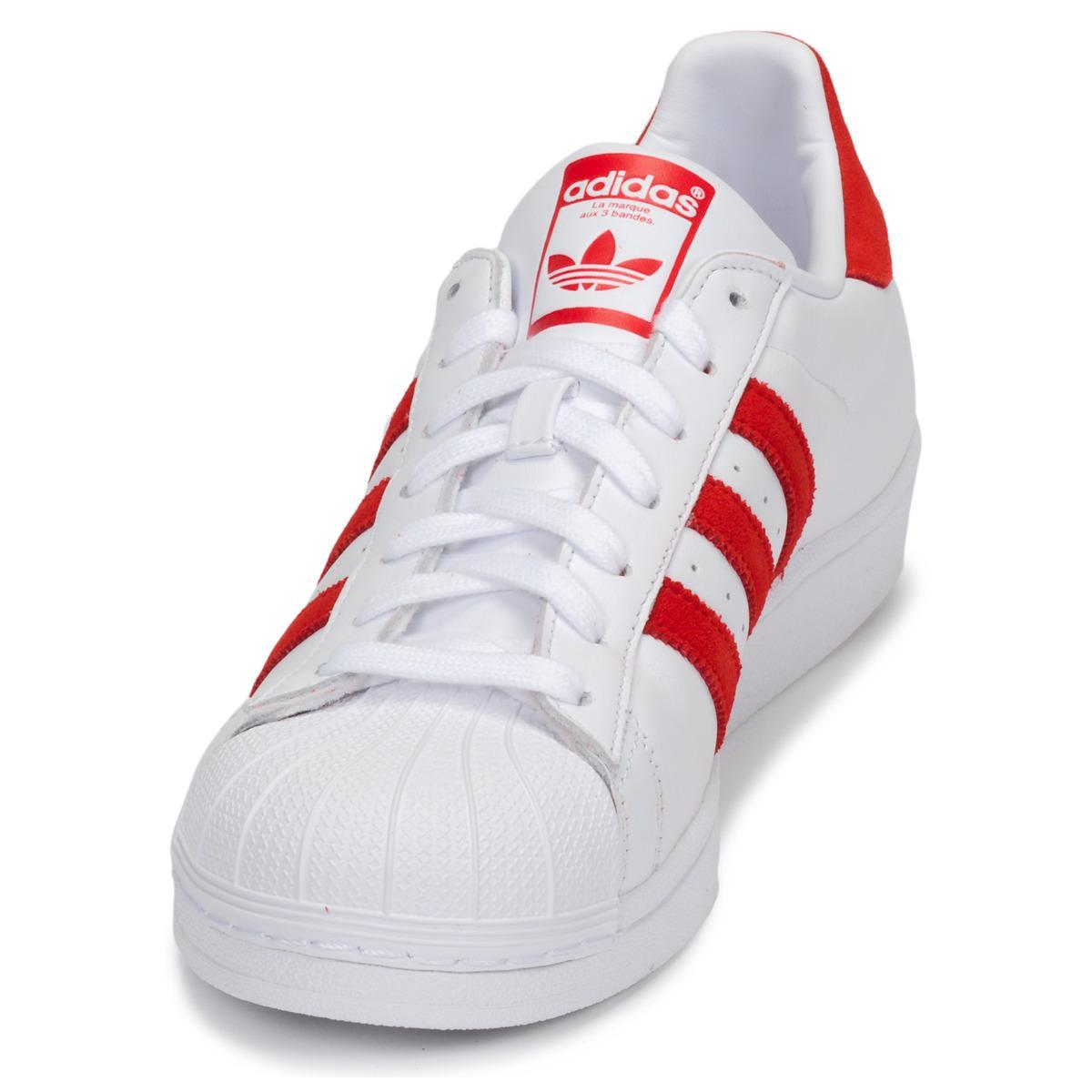 adidas Leer Lage Sneakers Superstar in het Wit voor heren