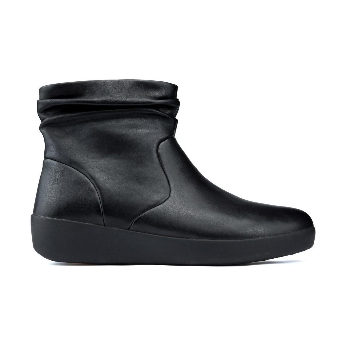 d789b04ce495 Fitflop Skatebootie Leather Boots Women s Mid Boots In Black in ...