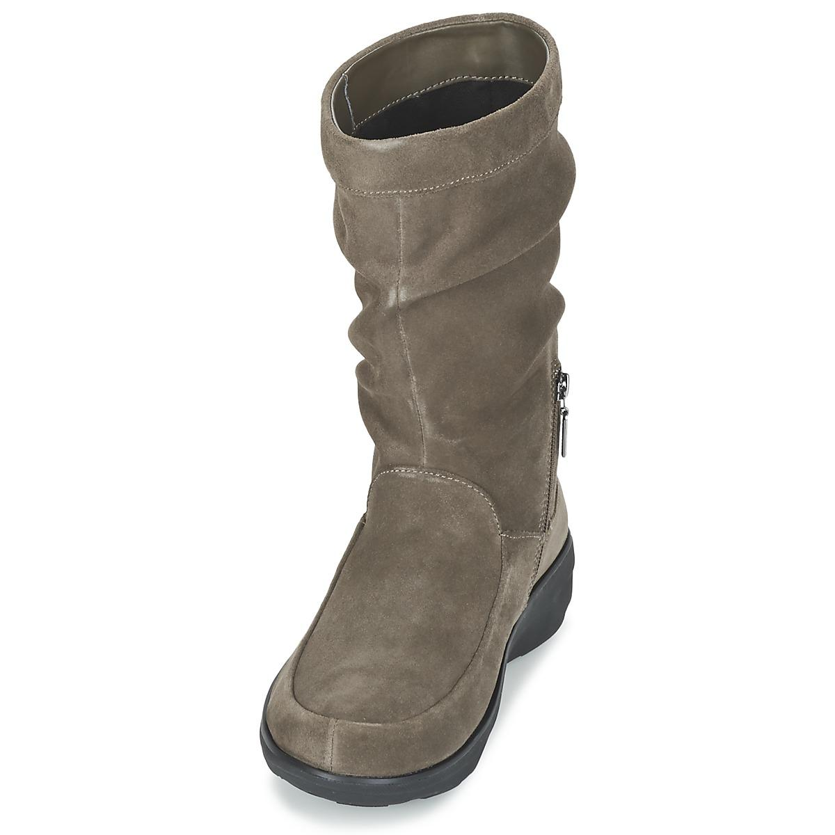 Fitflop Loaf Slouchy Knee Boot Suede Women's Mid Boots In Brown - Save 1%