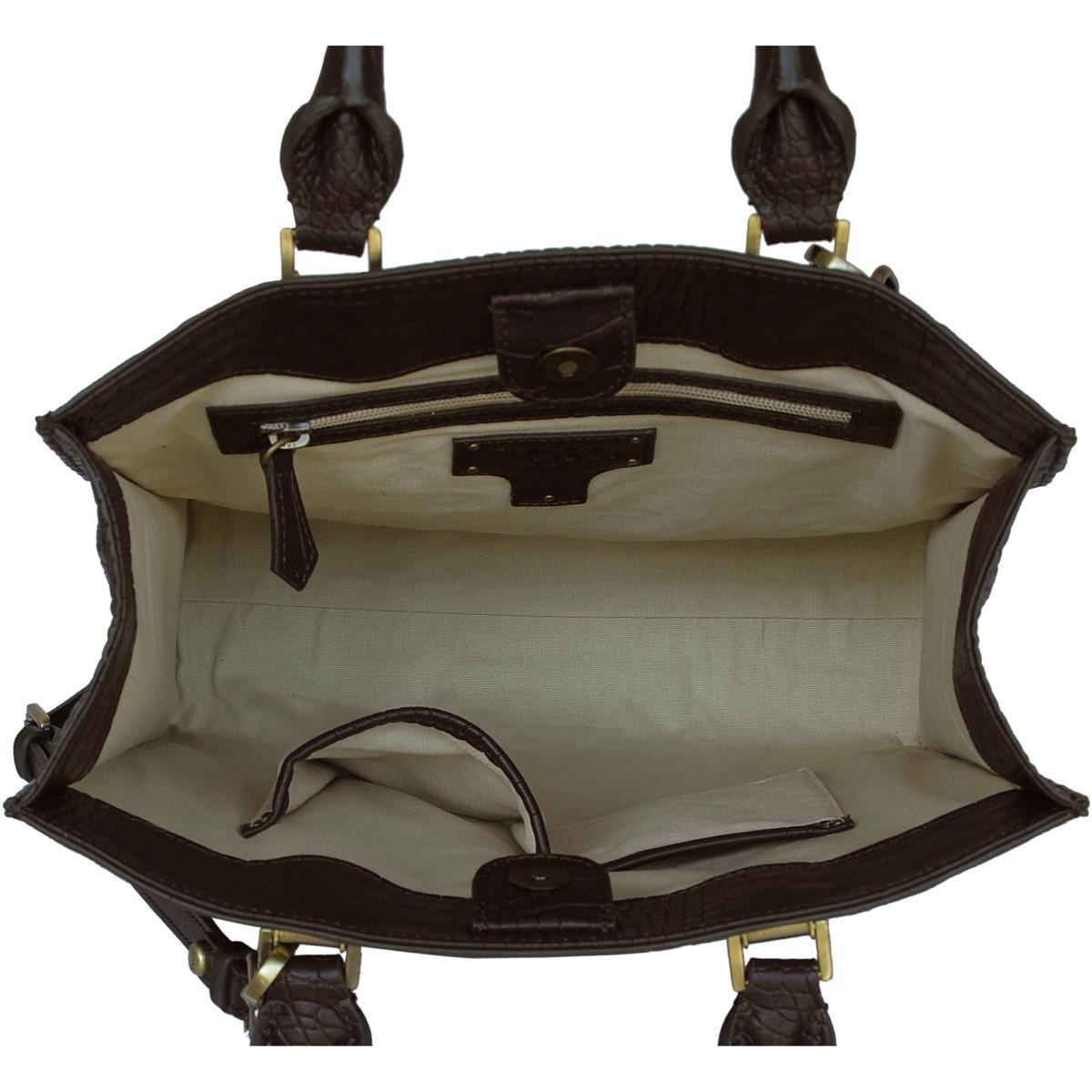 Silvio Tossi - Swiss Label Handtasche Handtasche 11489-02 in Braun D4gad