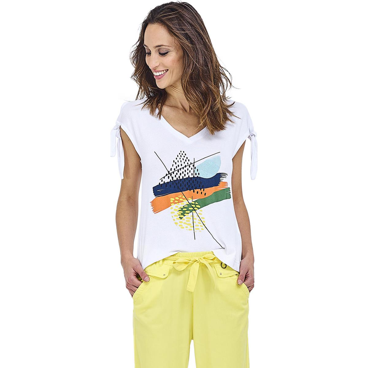MADO ET LES AUTRES Linen T-Shirt with Embroidery Summer Collection Women