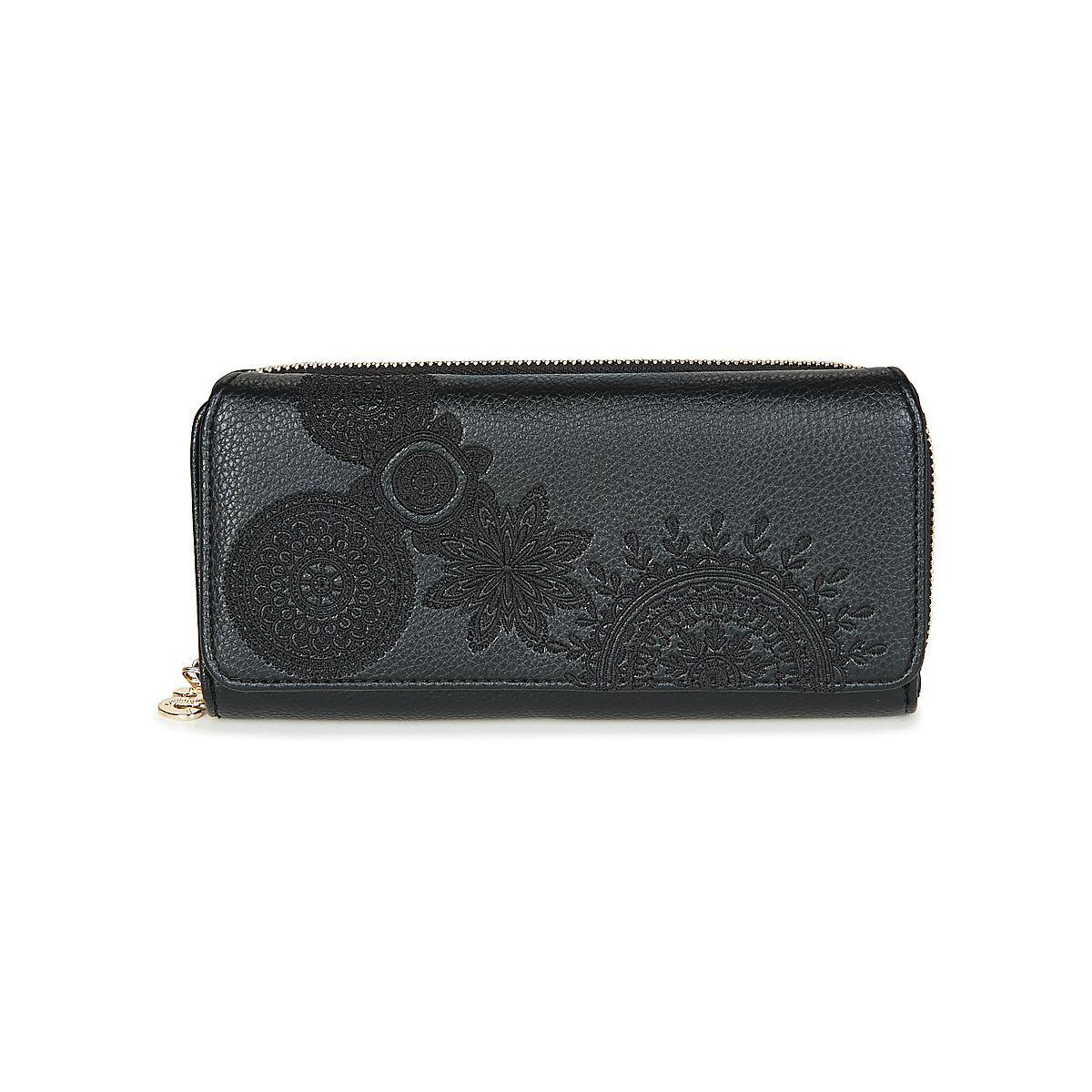 560fbbe22ad Desigual Mone Maria Dark Amber Women's Purse Wallet In Black in ...