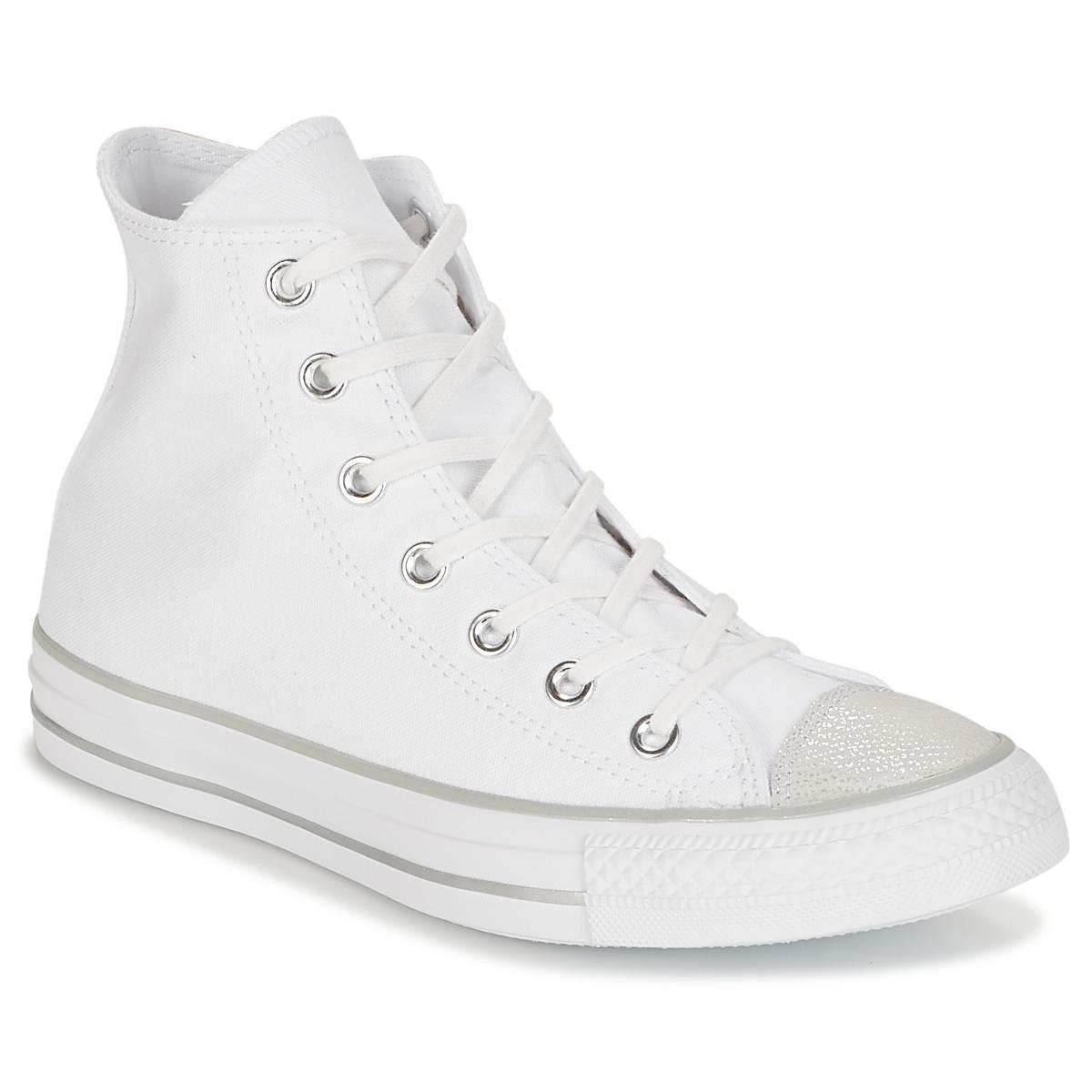 bc99e928d10f49 Converse Chuck Taylor All Star Hi Tipped Metallic Toecap Shoes (high ...
