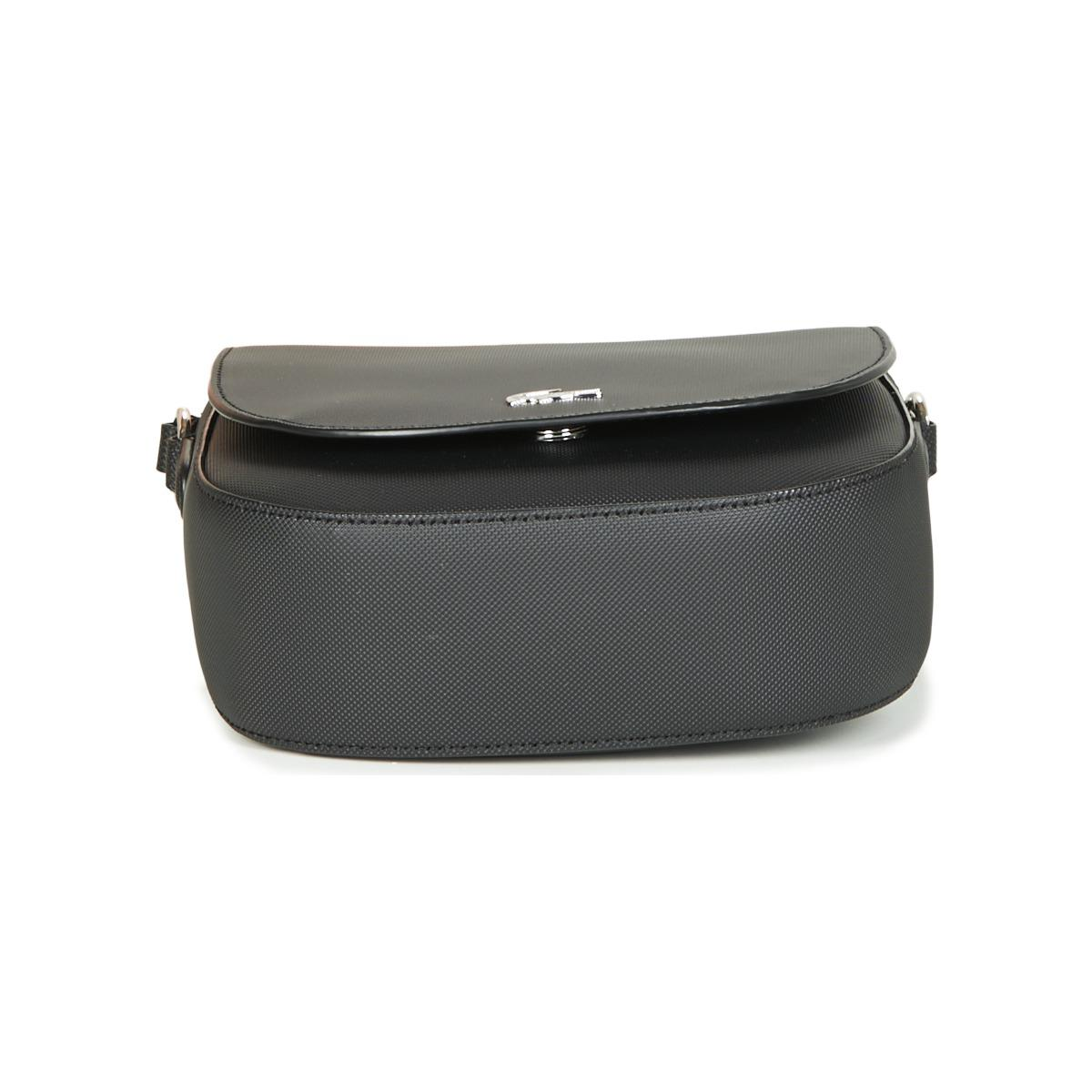 Lacoste Daily Classic Saddle Bag Coloris En Black fygIbvmY67