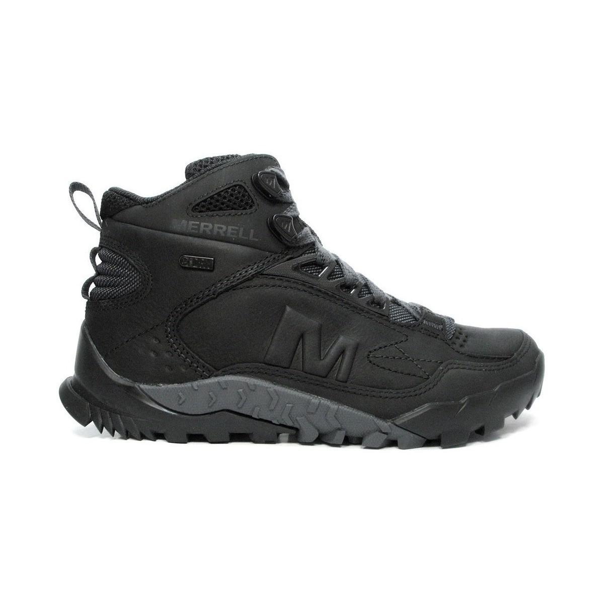 c79744a1dcd Merrell Annex Trak Mid Waterproof Men's Walking Boots In Black for men