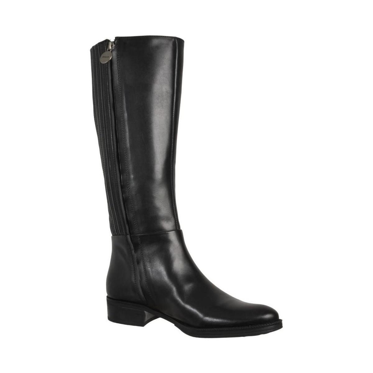 Geox Mendi St P Women's High Boots In Black