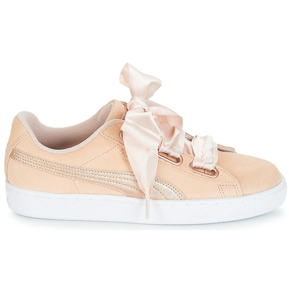 6a027ee4dee3a9 PUMA - Pink Suede Heart Lunalux W s Shoes (trainers) - Lyst. View fullscreen