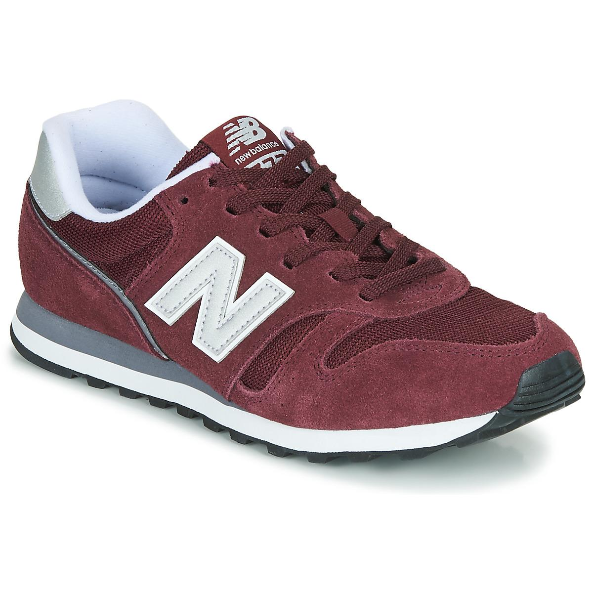 New Balance Suede 393 in Red Burgundy