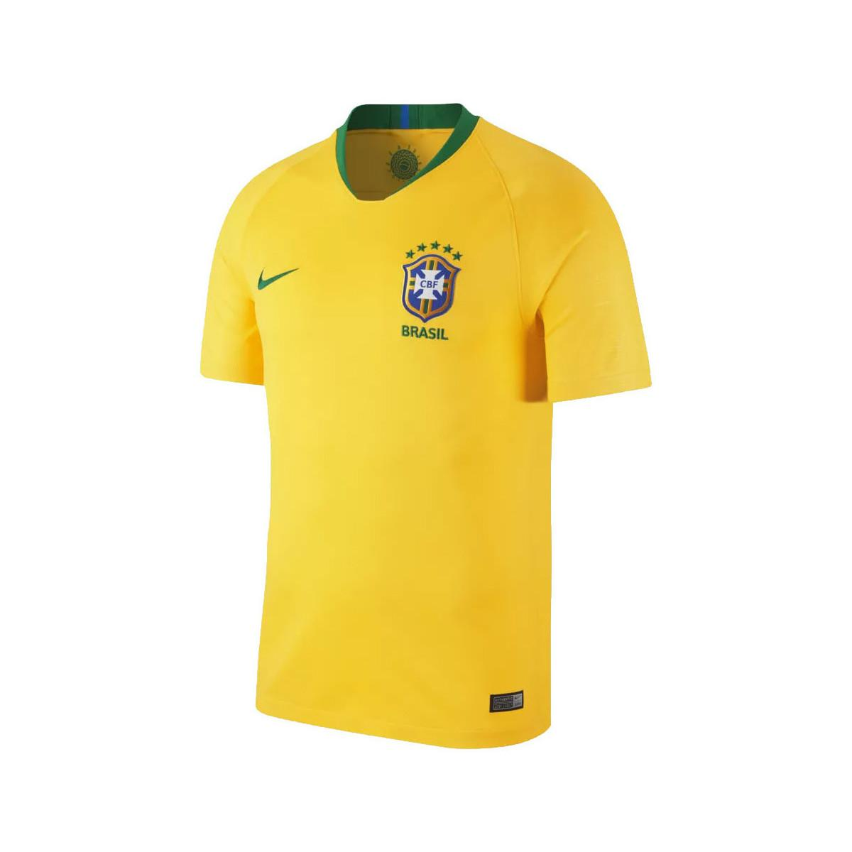 Nike 2018 2019 Brazil Home Football Shirt Kids Women S T Shirt In Yellow Lyst