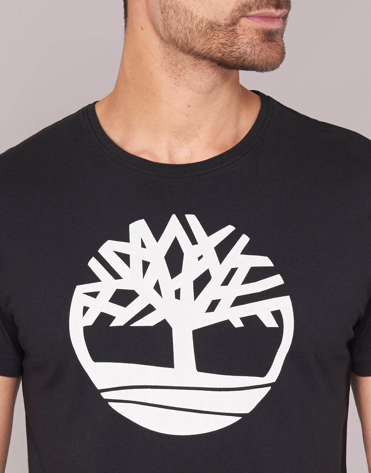 Ss Kennebec River Brand Tree Tee Men's T Shirt In Black