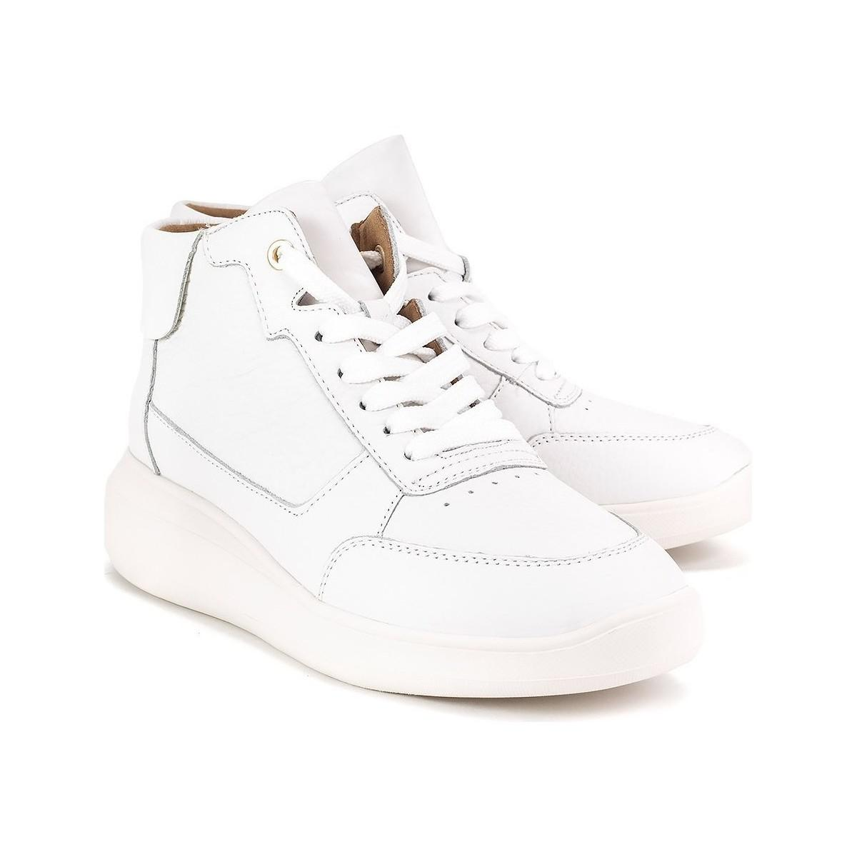Geox Rubidia Women's Shoes (high-top Trainers) In Multicolour in White