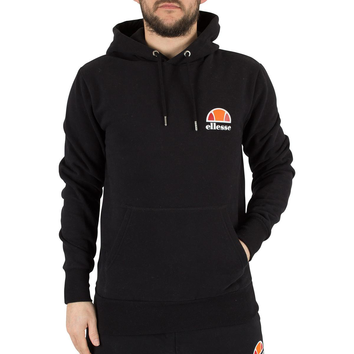 c18ee659 Ellesse Men's Toce Left Logo Hoodie, Black Men's Sweatshirt In Black for men