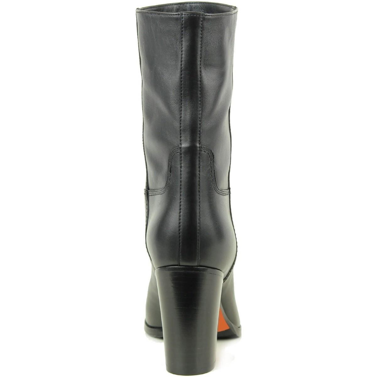 Bottes courtes noires Bottes Santoni en coloris Noir