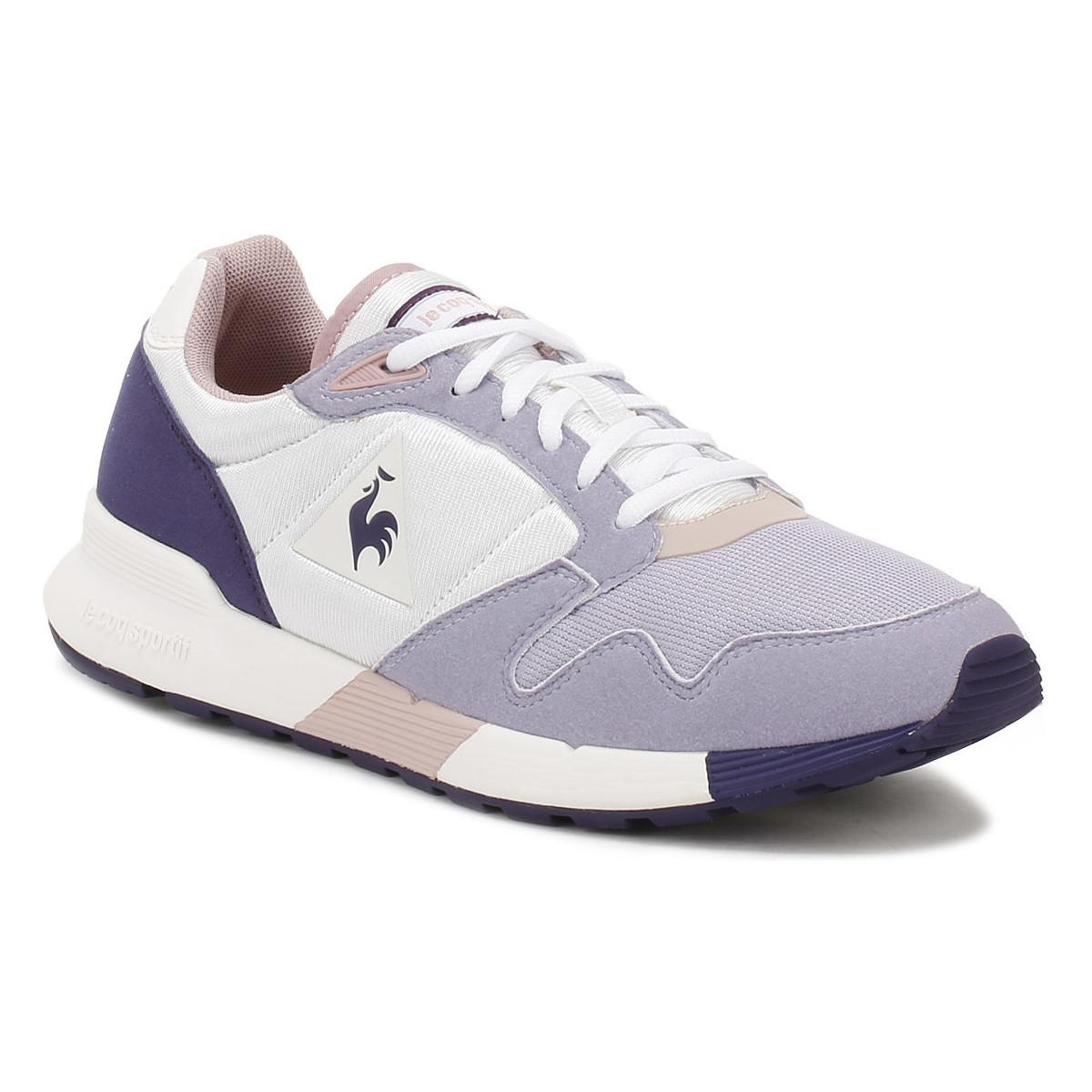 Le Coq Sportif Suede Womens Optical White / Heirloom Lilac Omega X W Trainers