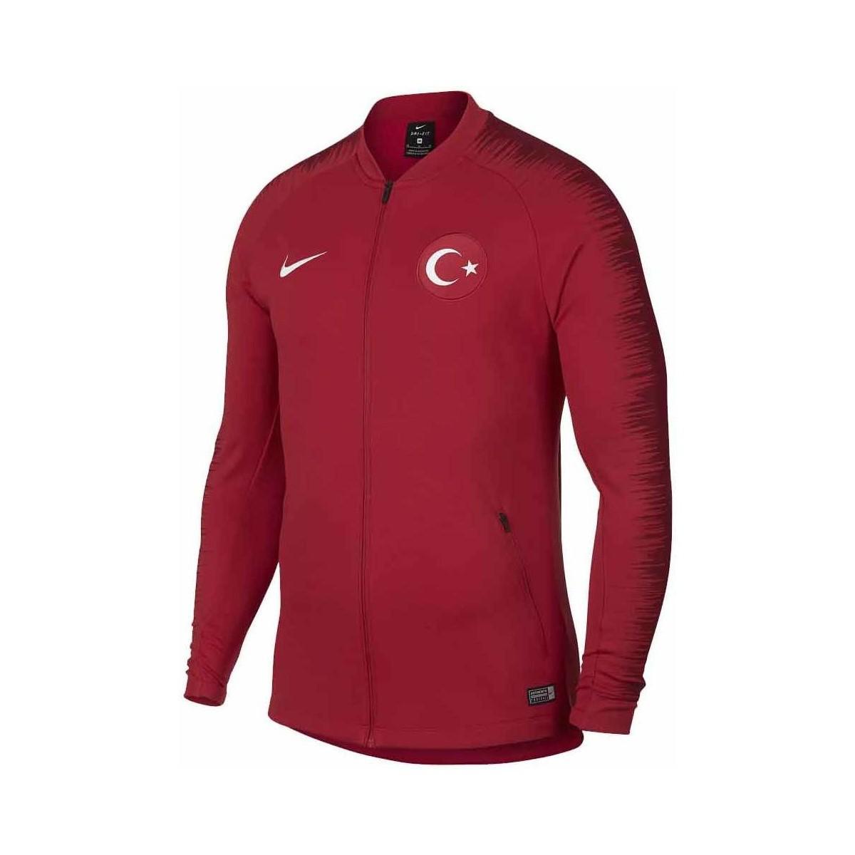 d6332d939adde Nike 2018-2019 Turkey Anthem Jacket Men's Polo Shirt In Red for men
