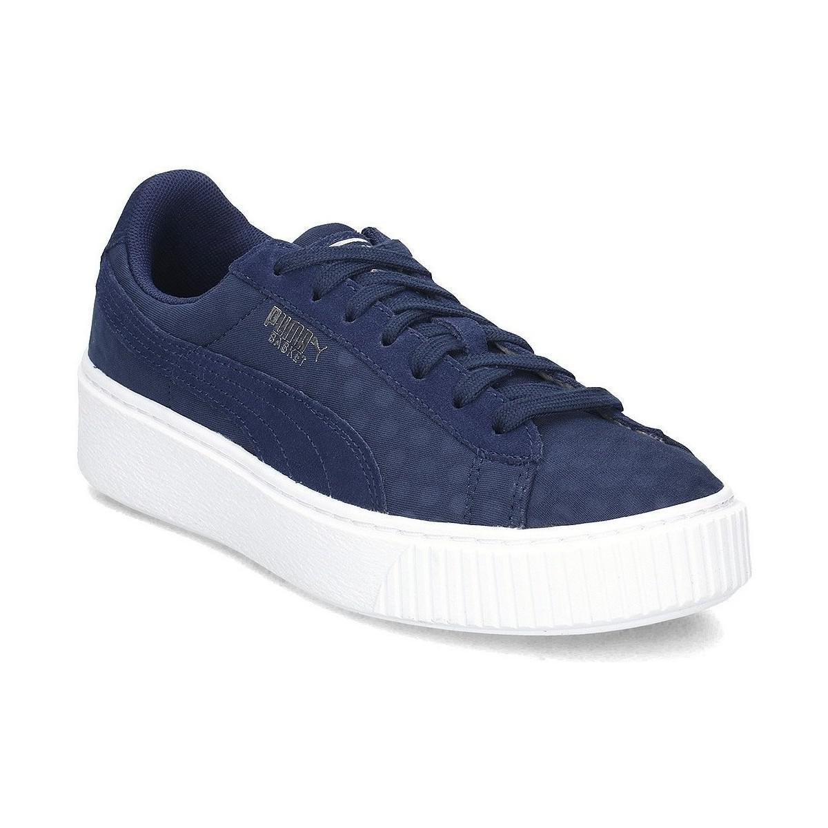 e73c31ec1d53df Puma Basket Platform De Women s Shoes (trainers) In Multicolour in ...