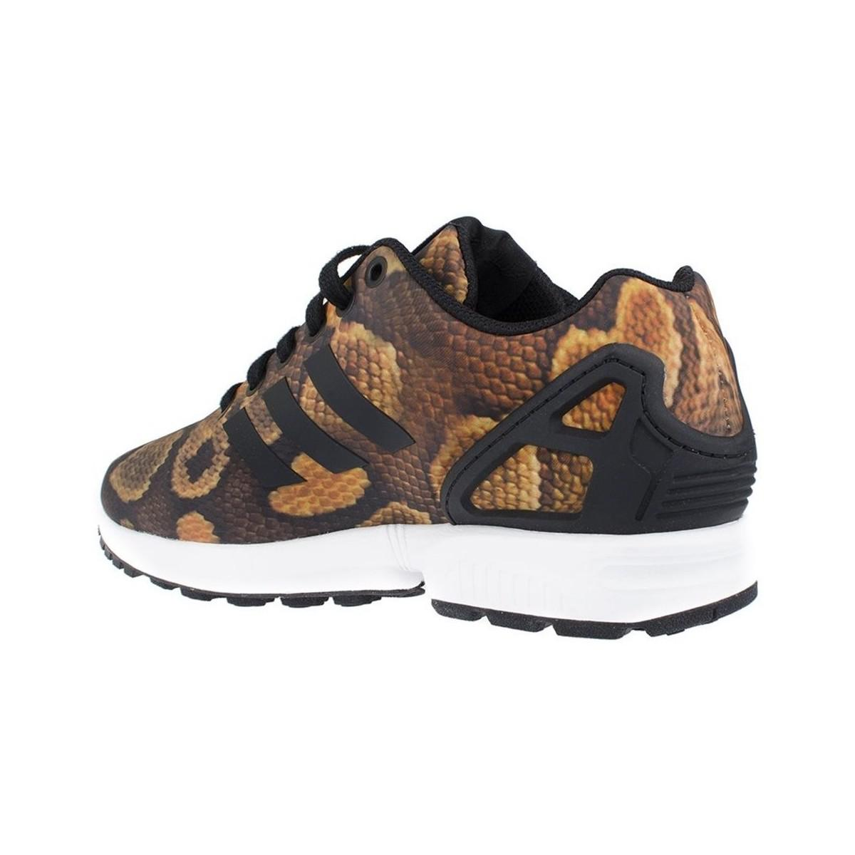 adidas Zx Flux Python Snake Women's Shoes (trainers) In Black