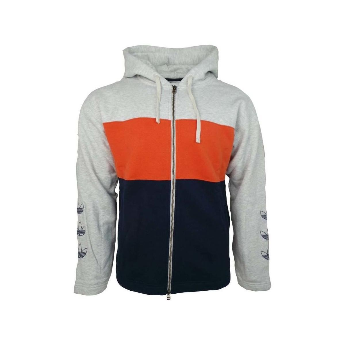 Adidas Full Zip Hoody Men's Sweatshirt In Grey in Gray for